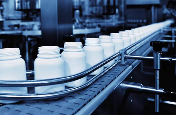 supplements production line