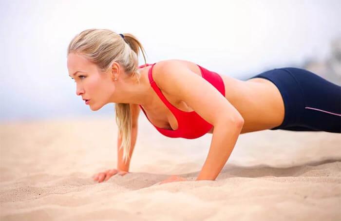 woman push ups